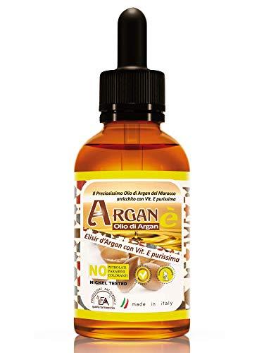 Olio di Argan e Vitamina E | 100% Puro, Naturale, Biologico | Viso, Corpo, Capelli, Labbra, Unghie | Antietà, Nutriente e Idratante Naturale (30 ml)