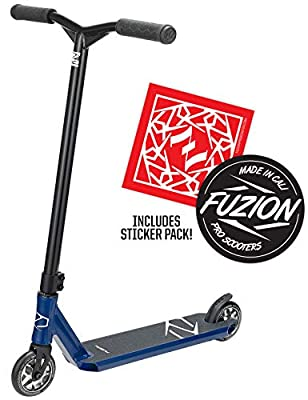 Fuzion Z250 Pro Scooters - Trick Scooter - Intermediate and Beginner Stunt Scooters for Kids 8 Years and Up, Teens and Adults – Durable Freestyle Kick Scooter for Boys and Girls (2020 - Blue)