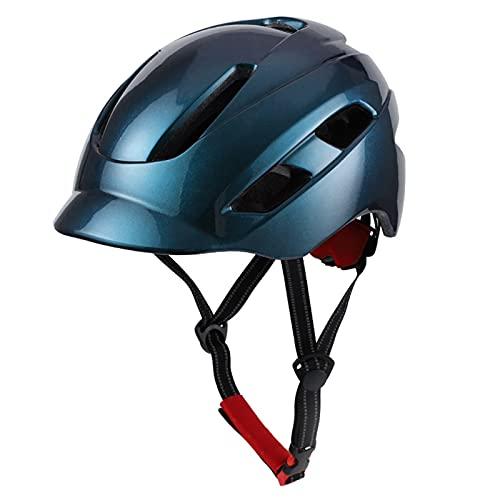 CFPacrobaticS-UK Casco De Bicicleta Casco Protector De Seguridad para Montar En Molde con Luz De Carga USB para Deportes Al Aire Libre Cascos De Bicicleta De Montaña Y Carretera Verde