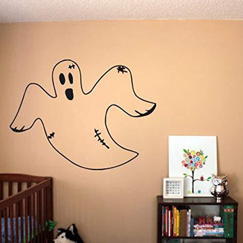 Etiqueta de la pared de dibujos animados ghost scary art vinilo etiqueta de la pared habitación de los niños decoración del hogar dormitorio patrón
