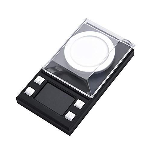 Báscula de joyería, portátil Mini LCD Báscula electrónica digital de bolsillo Básculas de miligramo de alta precisión 0.001g para pesaje de medicamentos de oro de joyería(100 gramos)