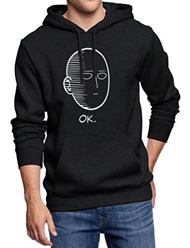 Dresswel Unisex OK One Punch Man Hoodie Herren Damen Kapuzenpullover Oberteile Hooded Sweatshirt Fleece Pullover Kapuzensweater Herbst Winter