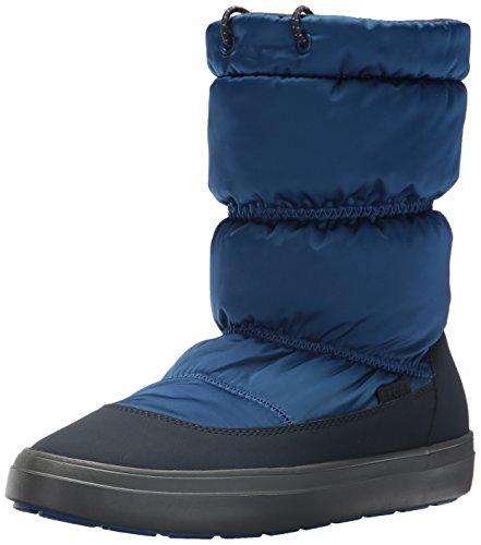 Crocs LodgePoint Shiny Pull-on Boot, Damen Schneestiefel, Blau (Blue Jean/navy), 38/39 EU