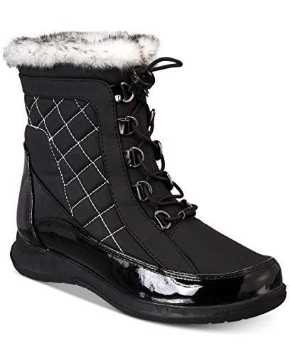 sporto Womens Jenny Closed Toe Ankle Cold Weather Boots Black