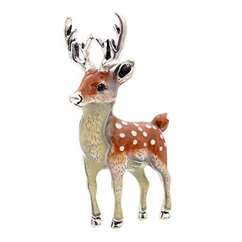 ZHENZHIA Broches 3 colores disponibles lindos pequeños ciervos para las mujeres Bucks sika ciervo animal Pin abrigo accesorios niños regalo