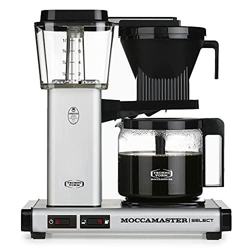 Moccamaster Filter Kaffeemaschine KBG Select, 1.25 Liter, 1520 W, Matt Silver