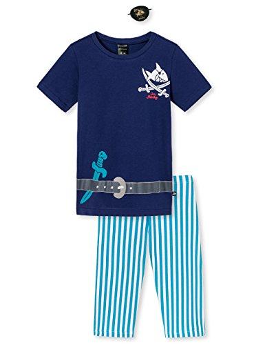 Schiesser Jungen Zweiteiliger Schlafanzug Kn Anzug Kurz, Blau (Blau 800), 98 (Herstellergröße 098)