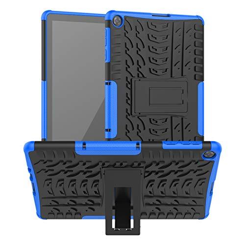 FaLiAng Pneumatici Cover per Huawei Matepad T10 / T10S / Enjoy 2 10,1', 2in1 Armatura Combinazione Custodia Antiurto Scudo Body Armor Copertura Defender Case con Supporto (Blu)