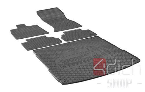 Passgenaue Kofferraumwanne und Gummifußmatten geeignet für Audi Q5 ab 2017 + Autoschoner MONTEUR