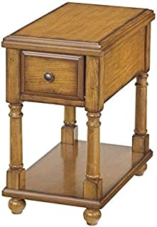 BOWERY HILL 1-Drawer Chairside End Table in Oak