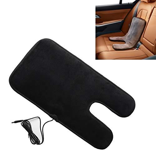 Auto Stoel Kussen Auto USB Stoel Heater Kussen Warmer Cover Winter Verwarmd Warm voor Baby(Zwart) Comfortabel rijden Zwart