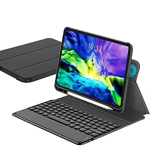 ktong Funda con Teclado para iPad Air3 / Pro 10,5'Funda Universal Desmontable para Teclado inalámbrico con portalápices, Funda Protectora Delgada para Tableta,Negro