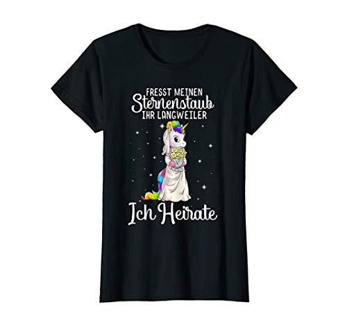 Damen Einhorn T-Shirt JGA Braut Junggesellenabschied Geschenk T-Shirt