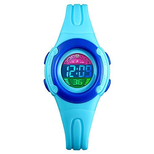 Fintier 人気 シンプルな カジュアル腕時計 デジタル 学生腕時計 ボーイズ腕時計 子供腕時計 スポーツギア アウトドアウォッチ クォーツウォッチ 防水 多機能 腕時計