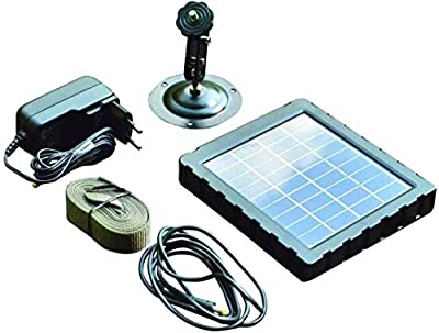 Reveal Camera Solar Charger Kit with Mount- 1500mAH / 7.4- DC-12V Also Works with Other Outdoor Equipment