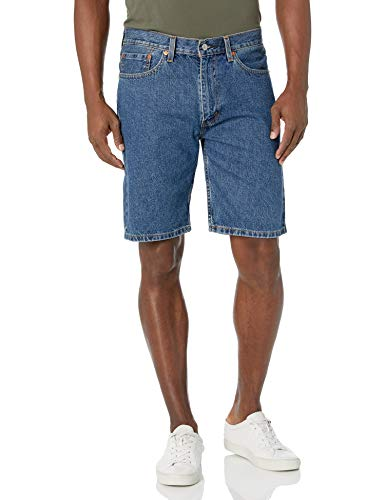 Levi's Men's 505 Regular Fit Short, Medium Stonewash, 38