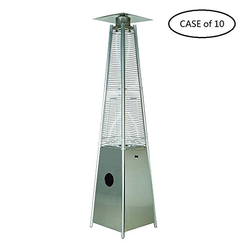 New LEGACY HEATING Case of 10, Quartz Galss Tube Patio Heater, Visual Flame Heater 40000BTU (Stainle...