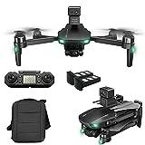 rzoizwko Drone, RC Quadcopter 360deg;evitación de obstáculos, GPS Drone con cámara 6K UHD para Adultos, GPS Drones con cardán de 3 Ejes, EIS Anti-Shake, 5G FPV Live Video Brushless Motor, 1200m Cont