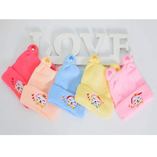 mlpnko Sombrero de bebé Cachemir cálido Gorro de bebé recién Nacido Gorro de Lana para niños código de Color de Carne