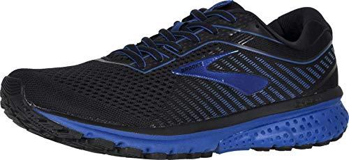 Brooks Mens Ghost 12 Running Shoe - Black/True Blue/Black - D - 11.0