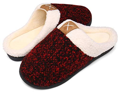 Mishansha Zapatillas De Estar por Casa para Mujer Memory Foam Suave Algodón Invierno Pantuflas Casa Cómodas Suave Slippers,Rojo,38/39