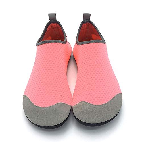 Vast Zapatos deportivos para deportes acuáticos unisex para natación, conducción, fitness, ocio, playa y agua (tamaño: 42-43, color: rosa)