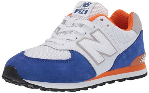 New Balance 574, Entrenadores Hombre, Blanco (White/Blue White/Blue), 38.5 EU