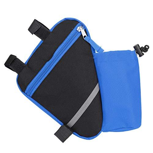 Pwshymi Bicycle Tool Bag Bicycle Repair Kits Tools Bag Bike Rack Triangle Water Bottle Kettle Bags Cycle Accessory(blue)