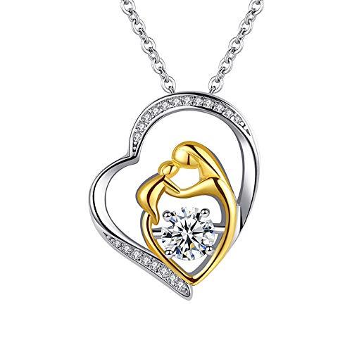 Collar De Oro Y Plata Y Colgante De TriáNgulo Simple, Regalo Del Dia De La Madre, Collares Con Colgantes Para Parejas Enamorados ,Buen Regalo De San Valentin (Oro)