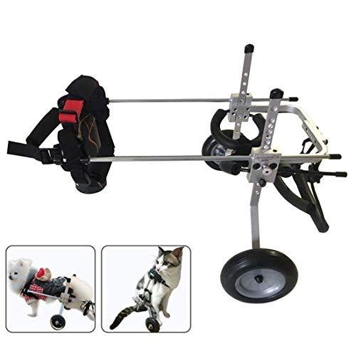 Hunderrolstoel, hond rolstoel ondersteuning achterlegs lopen frame rehabilitatie invaliden Pet Mobility Harness instelbare 2 wielen wagen dog wheelchair X-Small