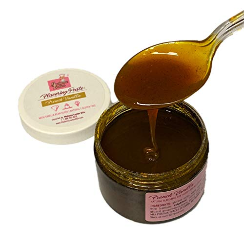 Madame Loulou 7oz French Vanilla Bean Paste, pure & natural flavoring for baking, ice cream and more made with real vanilla and not extract (200g - 7oz)