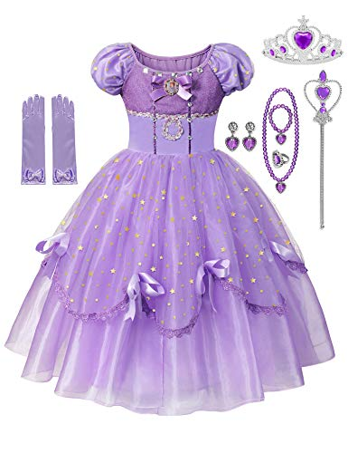 Little Girls Princess Costume Fancy Queen Dress Up Cosplay Party Dresses