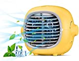 Portable Air Conditioner Fan Evaporative Portable Cooler Fan Space Cooler Fan Quiet Desk Fan with USB Recharged
