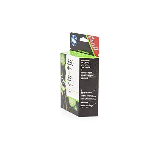 HP SD412EE / 350, 351, cartuccia per stampante PhotoSmart C 4583 2X Premium, nero, ciano, magenta, giallo, 4,50 e 3,50 ml