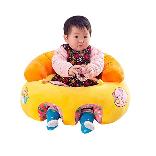 Ouqian Kleinkinder Sofas Baby Lernen Sitzen Stuhl Sofa Infant Support Saftety Sitzkissen Runden Kindergarten Esszimmerstuhl Kinder Kindersofas (Farbe : Gelb, Größe : Einheitsgröße)