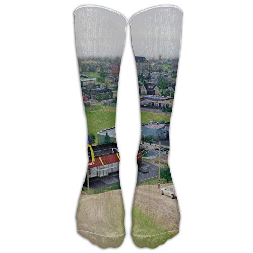 SimCity Building McDonalds s Athletic Tube Stockings Klassiker der Männer kniehohe Socken Sport lange Socke eine Größe