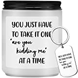 Funny Candles Gifts for Women - Relaxing Gift for Women, Best Friends, Mom, Dad, Wife, Husband, Coworkers, Sister, Him - Mothers Day Gifts - Lavender Scented Candles with Keychain