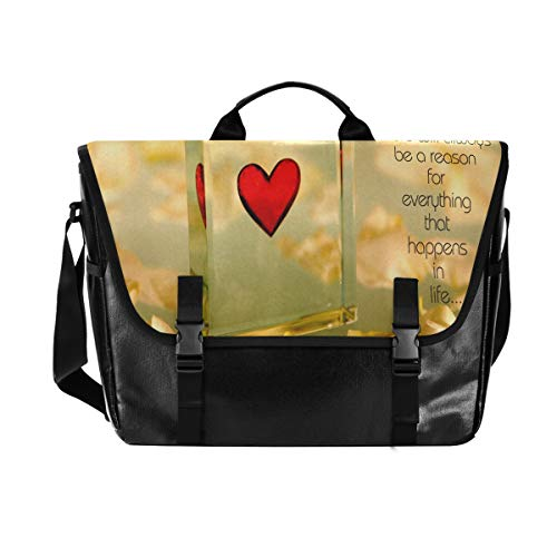 """▸Fashion Large Messenger Bag Size: 15.1"""" x 5.9"""" x 12""""(LxWxH), Can fit 15.6"""",15"""",14"""",13"""",12.6"""",12.1"""",12"""" Laptop / Notebook / Tablet / Ipad,etc. ▸Shoulder Laptop Bag Material: The Computer Bag Made of Unique reflective canvas fabric(lightweight 1.4lbs,..."""