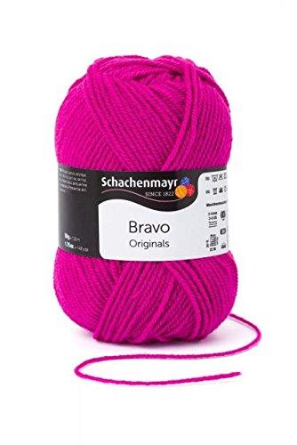 Schachenmayr original 2x50g Bravo - Farbe: 8350 - Power pink - Pflegeleicht und waschmaschinenfest.