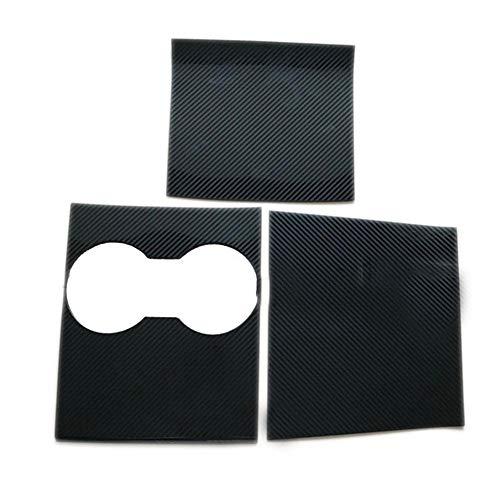 Tianxiu Mittelkonsole Wrap Kit 3-TLG. True Carbon Box Bedienfeld Wrap Reflektierende Selbstklebende Aufkleber Passend Für Tesla Model 3