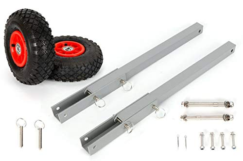 DENESTUS Boat Transom Launching Wheel Dolly Easy Stainless Steel Tires Stand for Inflatable Boats...