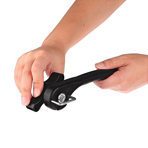 US Stock Professional Can Opener Handheld Smooth Edge,Safety Side Cut Manual Can Tin Opener,Ergonomic Crank Handle Can Opener Manual