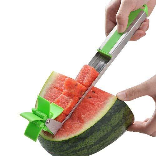 Watermelon Slicer Tongs Fruit Melon Stainless Steel s Watermelon Cut Refreshing Watermelon Cubes