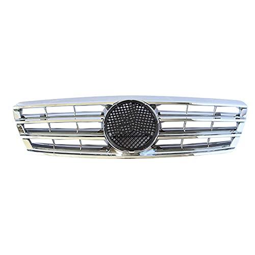 TBJDM Parrilla Parrilla Cromada, Adecuada para Mercedes-Benz W203 W204 C280 C320 C240 C200 C180 C200 C260 C63 2000-2006 con Emblema