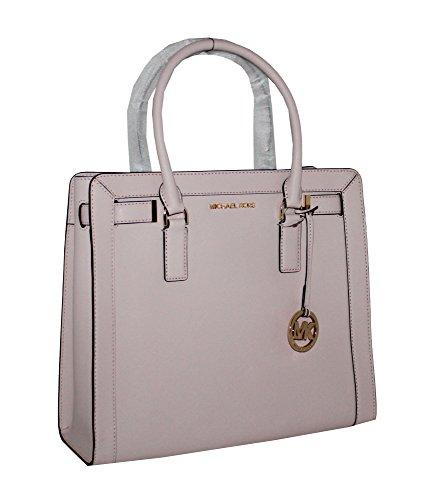 MICHAEL Michael KORS Dillon Large Top Zip Leather Satchel Handbag Blossom