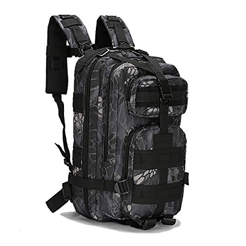 35 Liters Lightweight Military Tactical Backpack Multifunctional Unisex Backpack Oxford Cloth Suitable For Hiking Camping Mountaineering E