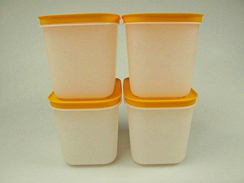 TUPPERWARE Caja de Congelación de 1,1 L blanco naranja (4) 27621