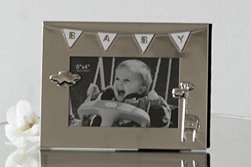 Moderner Bilderrahmen Fotorahmen BABY aus Metall 16x21cm für Bilder im Format 10x15cm