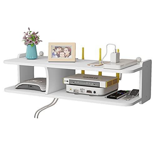 Decodificador de TV de partición flotante, consola multimedia montada en la pared, estante de almacenamiento sin perforaciones, utilizado para el estante de almacenamiento de decoración de pared