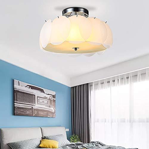 Rural Art-Lotus-plafondlamp, warme en romantische slaapkamerlamp, eenvoudige moderne ronde lamp, creatief boekenruimte, prachtige slaapkamer, plafondlamp, minimalistisch hanglampje